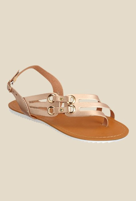 Yepme Champagne Back Strap Sandals