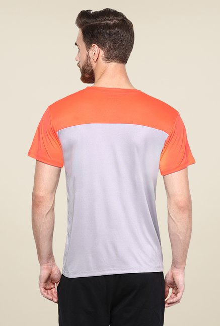 Yepme Grey Cyril High Performance Active Solid T Shirt