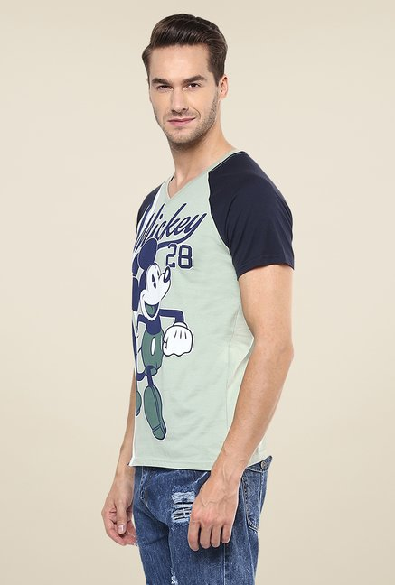 Yepme Grey Disney Mickey 28 Printed T Shirt