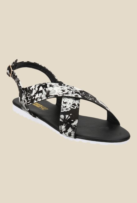 Yepme Black & Silver Back Strap Sandals