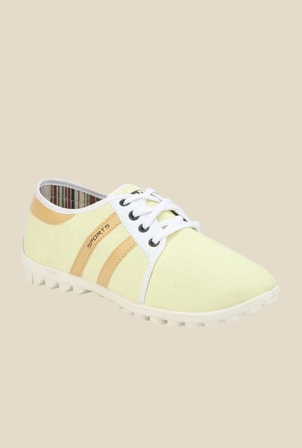 Yepme Light Yellow & White Sneakers