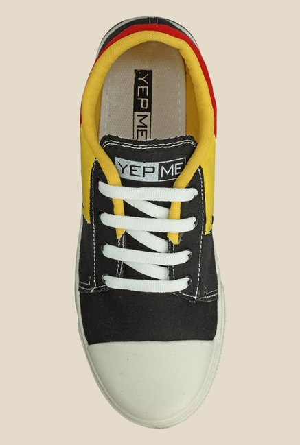 Yepme Black & Yellow Sneakers