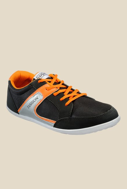 Yepme Black & Orange Sneakers
