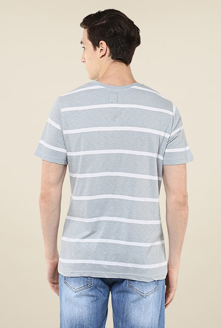 Yepme Grey Dorris Striped T Shirt