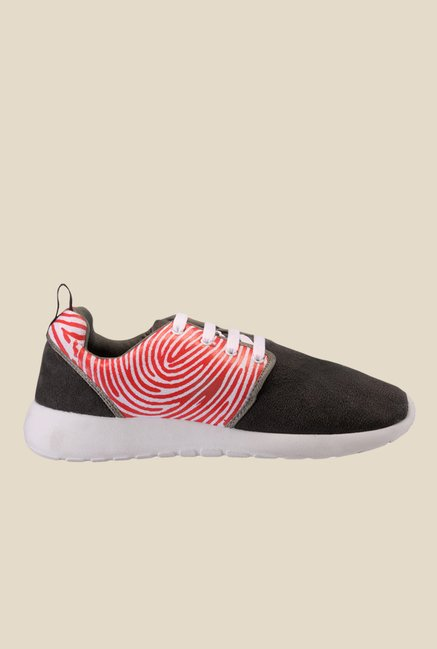 Yepme Dark Grey & Red Sneakers