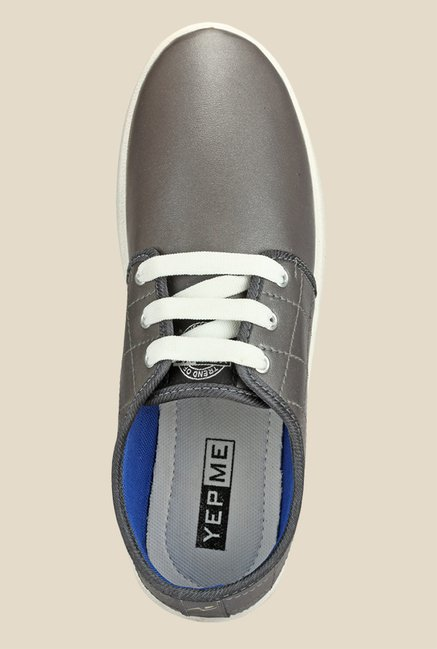 Yepme Grey & White Sneakers