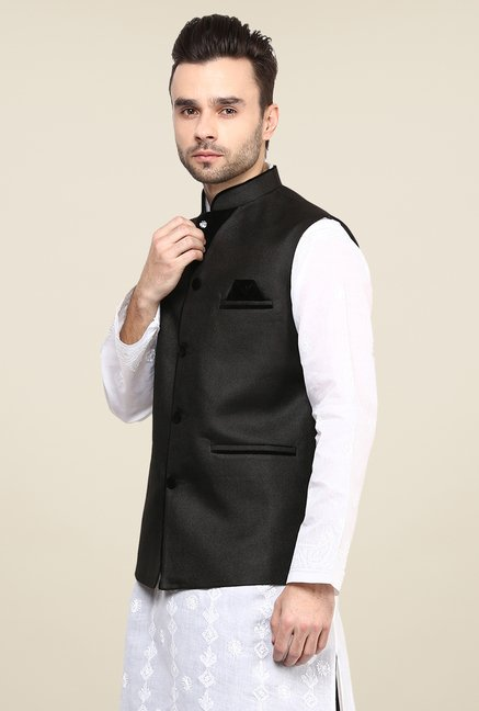 Yepme Black Ronn Solid Nehru Jacket