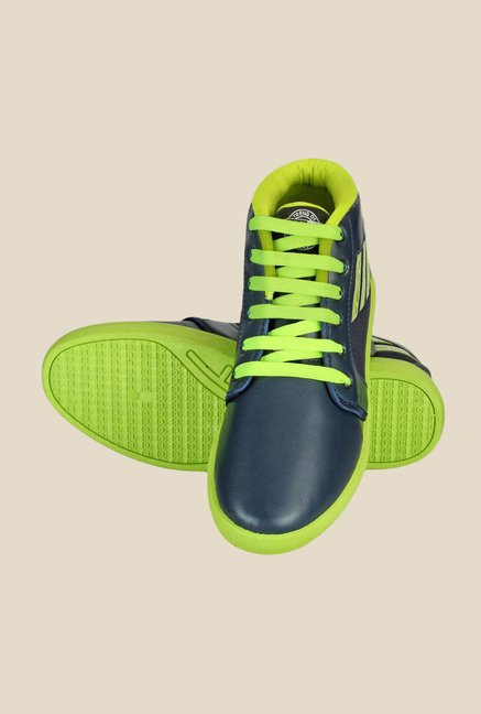 Yepme Navy & Green Ankle High Sneakers
