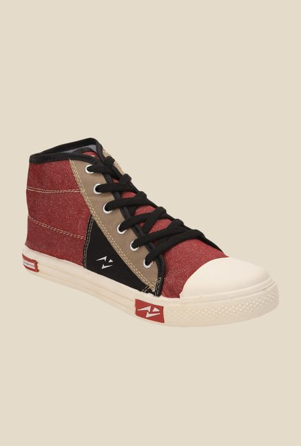 Yepme Maroon & Black Sneakers