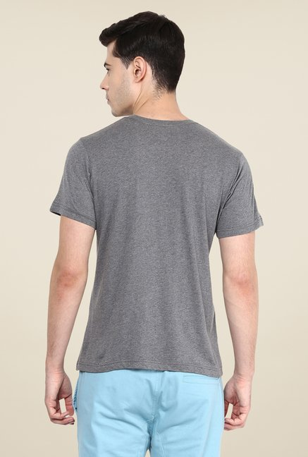 Yepme Civil War Star Grey Graphic Print T Shirt