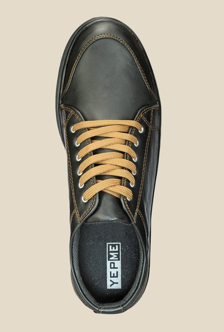 Yepme Black & Beige Sneakers
