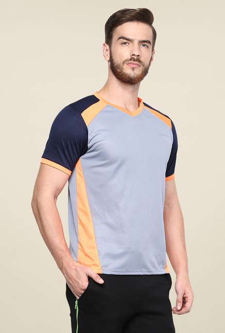 Yepme Grey Davies Active Solid T Shirt