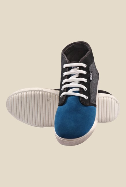 Yepme Blue & Grey Ankle High Sneakers