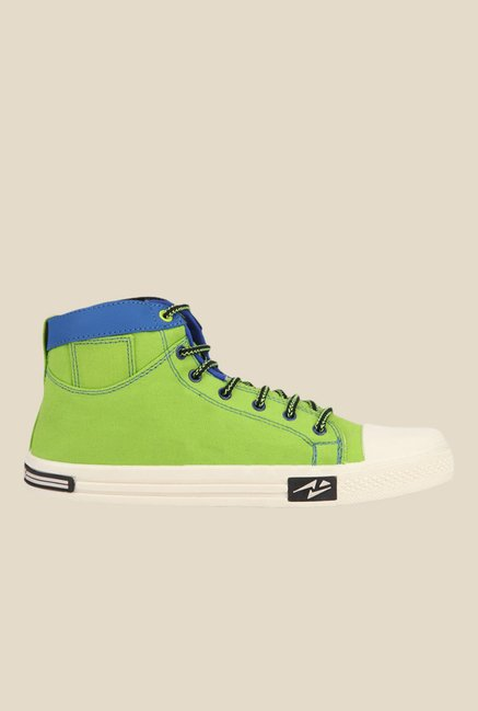 Yepme Neon Green & Blue Sneakers