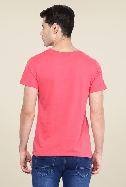 Yepme Coral Eco Ladder Printed T Shirt