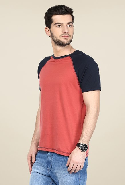 Yepme Stannis Raglan Red Solid T Shirt