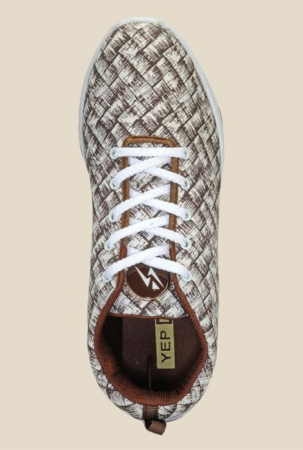 Yepme White & Brown Sneakers