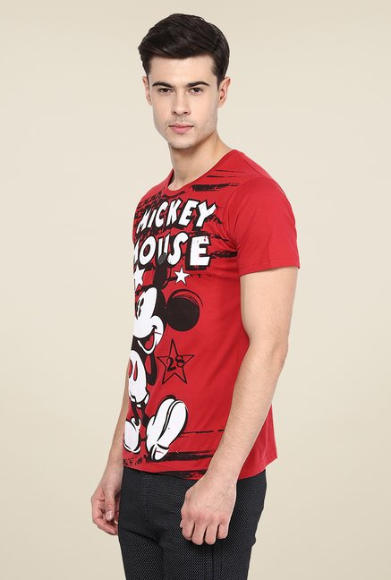 Yepme Disney Mickey Mouse Red Printed T Shirt
