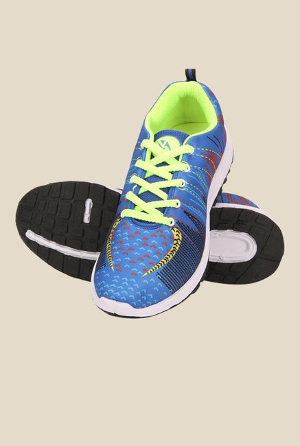 Yepme Blue & Neon Green Sneakers