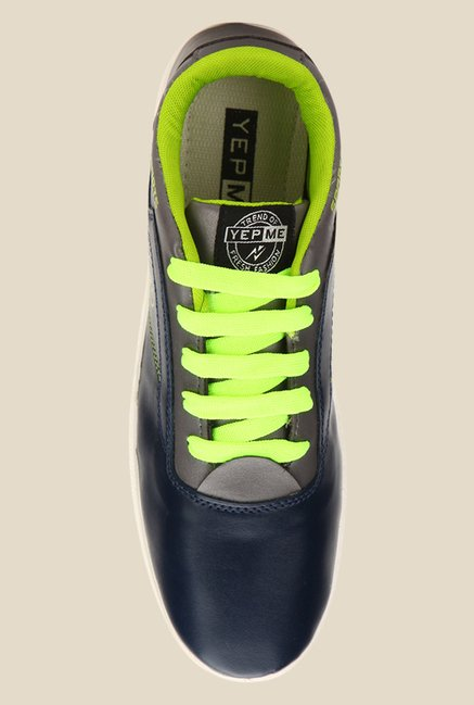 Yepme Navy & Green Sneakers