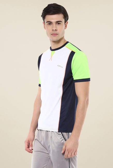 Yepme White Hubert Active Solid T Shirt