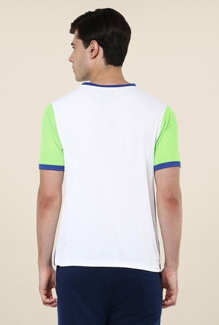 Yepme White Davies Active Solid T Shirt