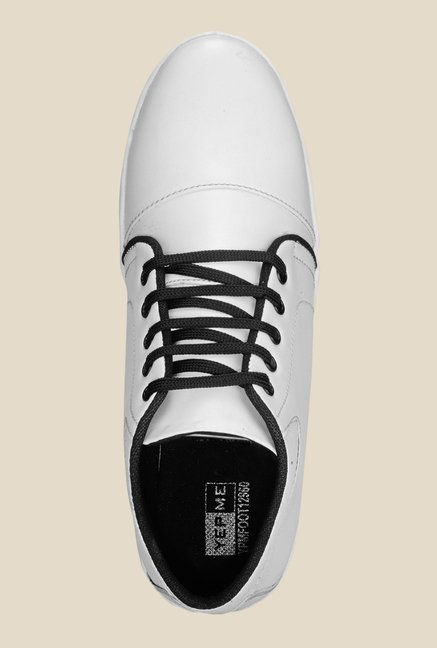 Yepme White & Black Ankle High Sneakers