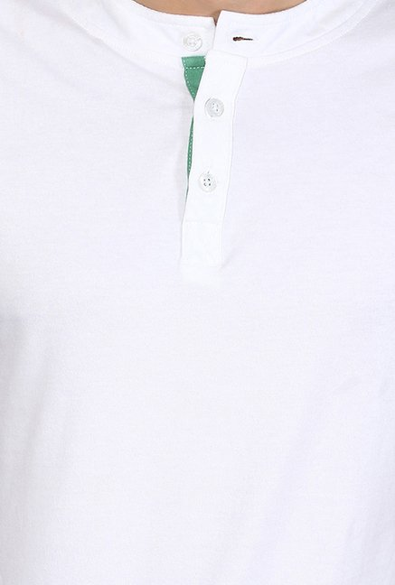 Yepme Rolf White Solid T Shirt
