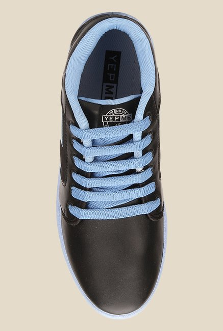 Yepme Black & Blue Ankle High Sneakers