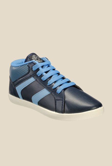 Yepme Navy Blue Ankle High Sneakers