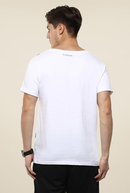 Yepme White Louise Printed T Shirt