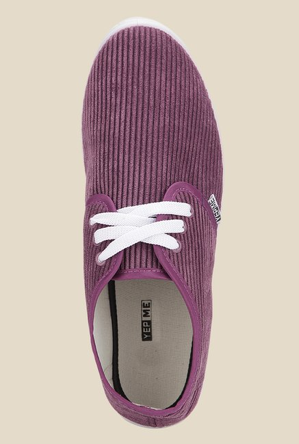 Yepme Purple & White Sneakers