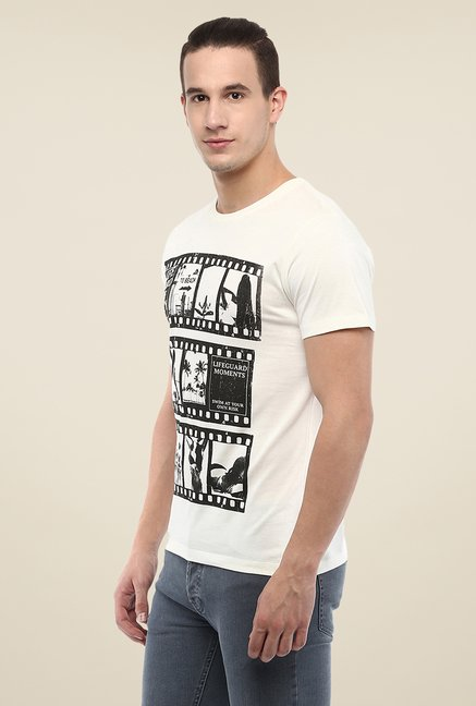 Yepme White Lifeguard Printed T Shirt