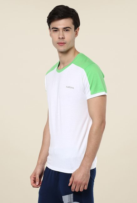 Yepme White Tim High Performance Active Solid T Shirt