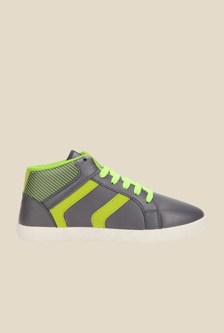 Yepme Grey & Green Sneakers