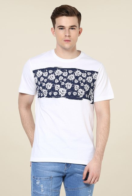 Yepme White Printed T Shirt