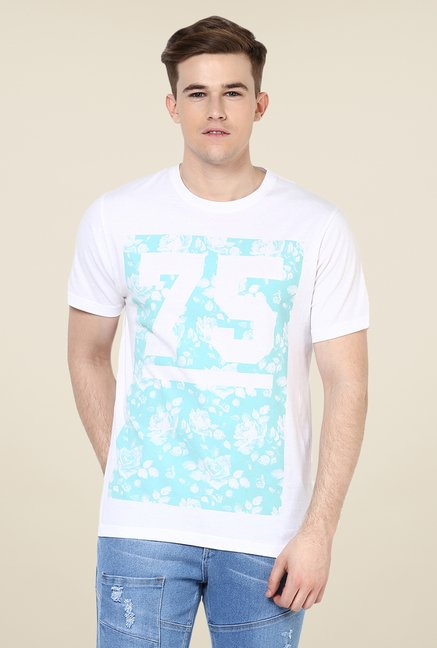 Yepme White 75 Bed Of Roses Printed T Shirt