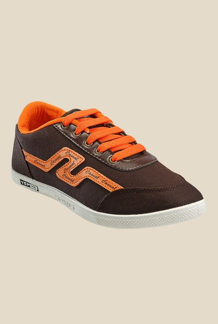 Yepme Brown & Orange Sneakers