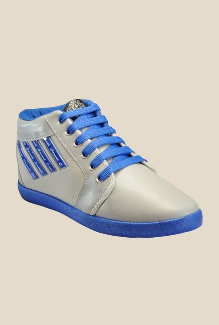 Yepme Grey & Royal Blue Sneakers