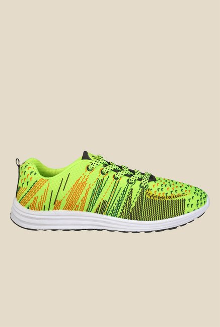 Yepme Neon Green & Black Sneakers