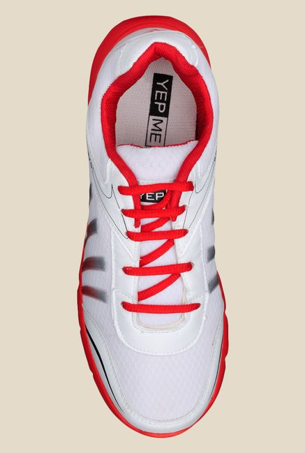 Yepme Skippy White & Red Running Shoes