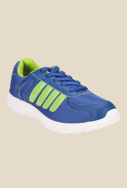 Yepme Orvin Blue & Green Running Shoes