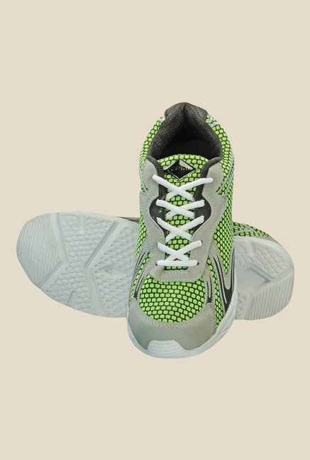 Yepme Quent Grey & Green Running Shoes