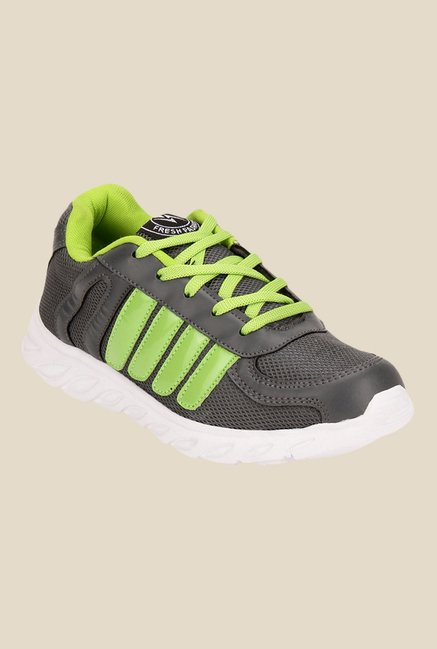 Yepme Orvin Grey & Neon Green Running Shoes