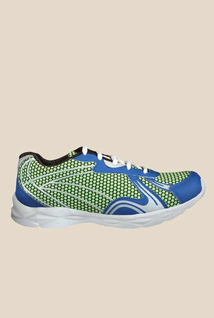 Yepme Quent Green & Blue Running Shoes