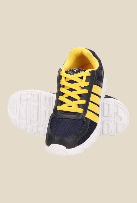 Yepme Orvin Navy & Yellow Running Shoes