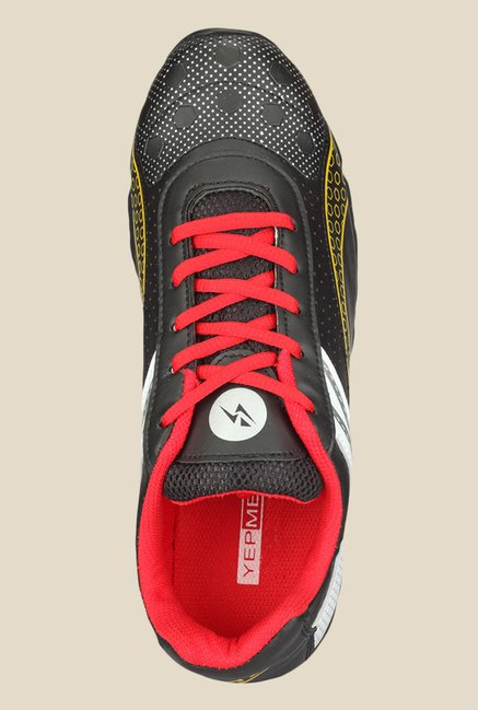 Yepme Quent Black & Red Running Shoes