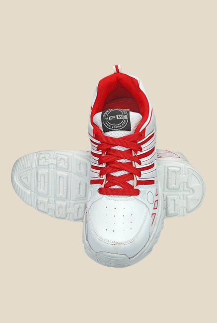 Yepme Glad White & Red Running Shoes