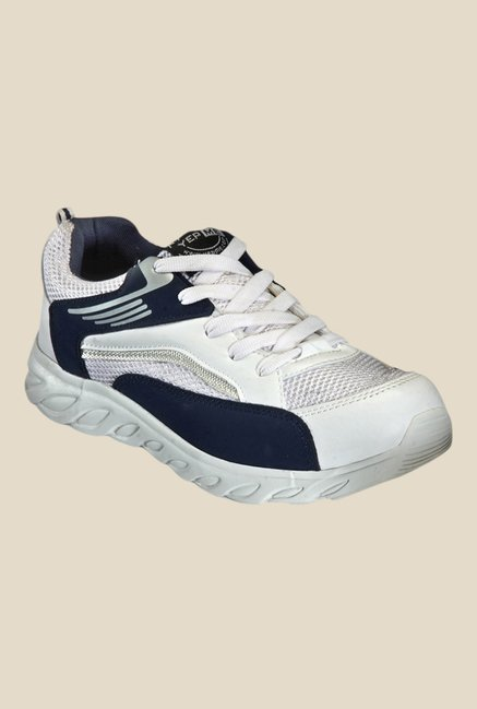 Yepme Waldo White & Navy Running Shoes