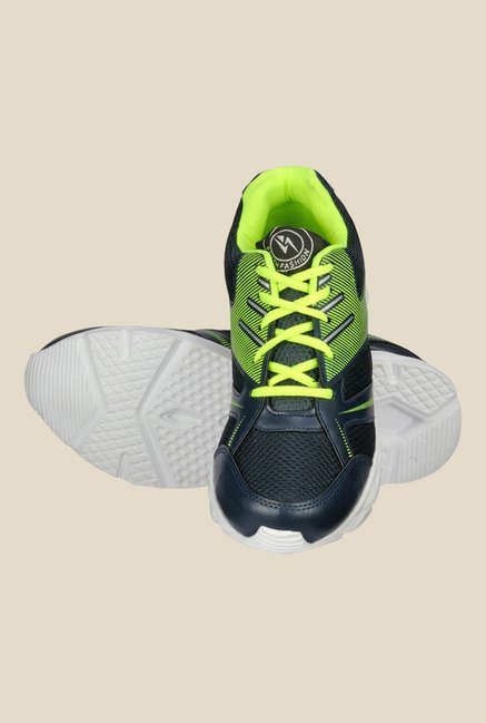 Yepme Navy & Neon Green Running Shoes